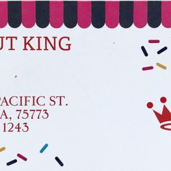 Donut king donuts 1235 n pacific st mineola tx phone number photo of donut king mineola tx united states business card colourmoves