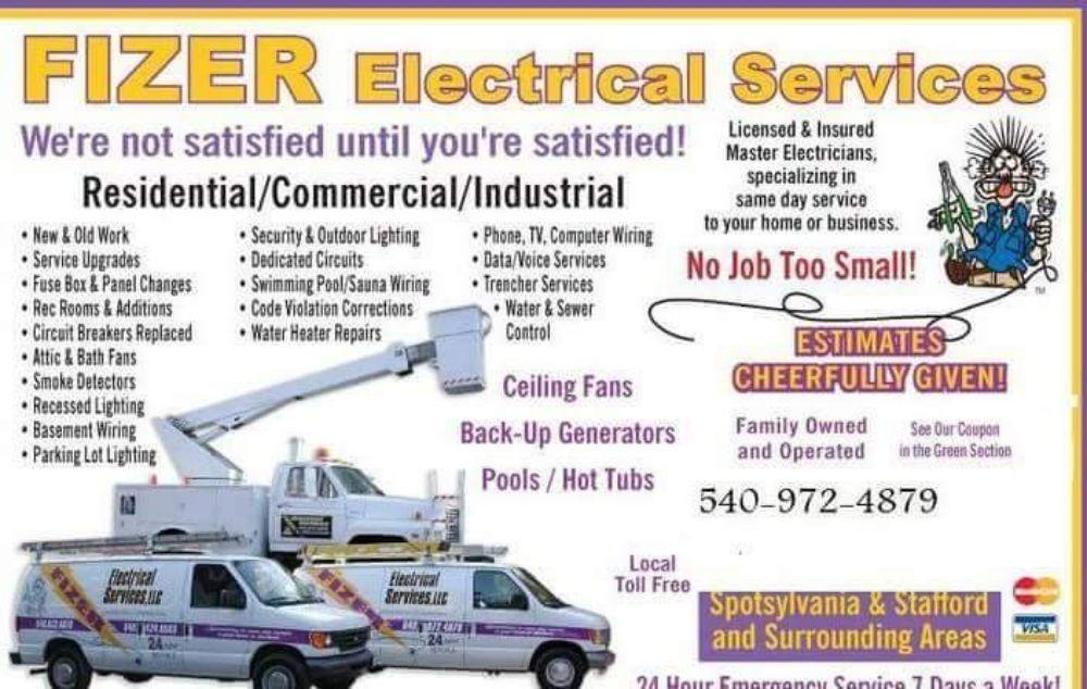Fizer Electrical Services: 13720 Blackmeadow Rd, Spotsylvania, VA