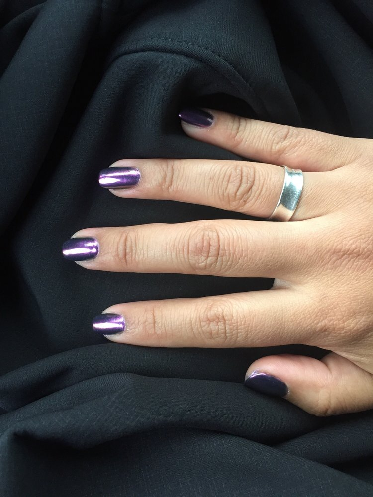 Chrome Gel Nails Loved My Short Coffin Shape Yelp