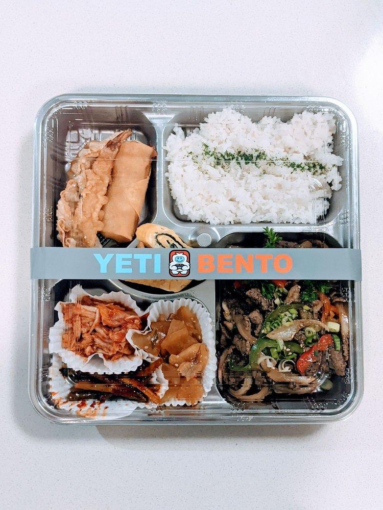 Musashi Cafe Yeti Bento: 10602 NE 9th PI, Bellevue, WA