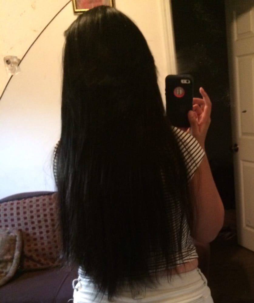 Love my sew in hair extensions chantel is the one who did for Job salon distribution