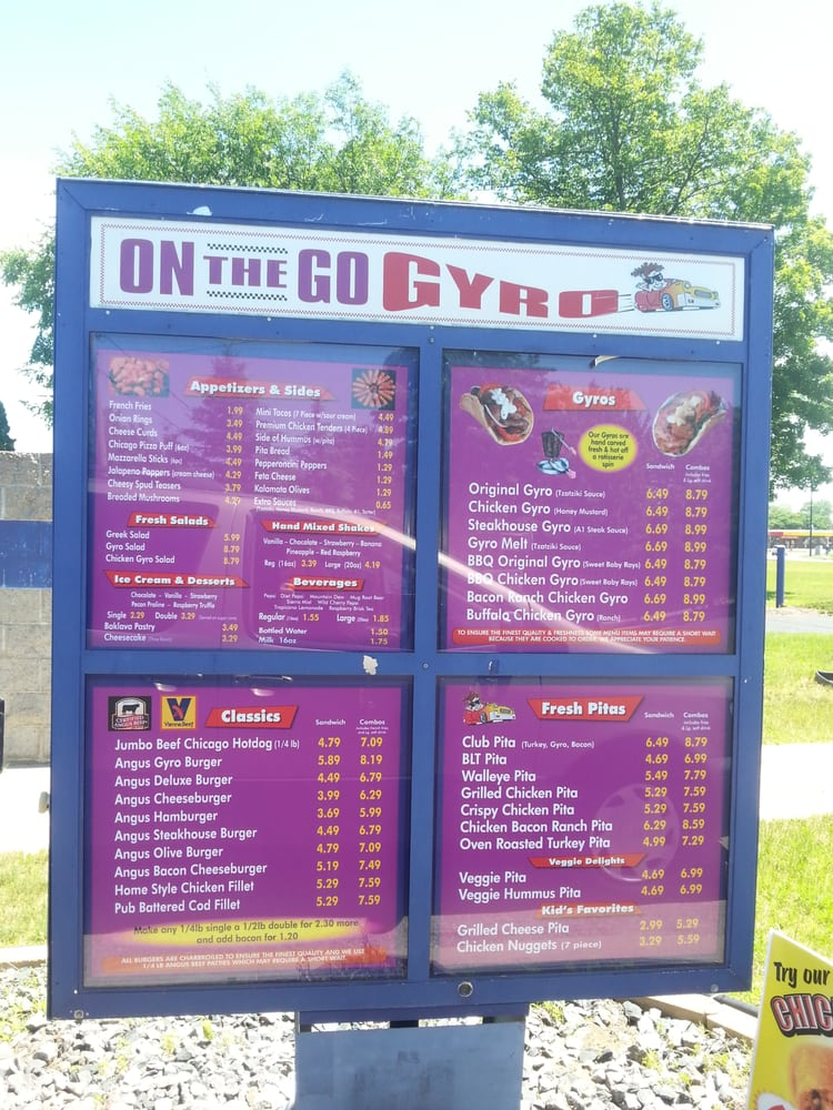 Food from On The Go Gyro