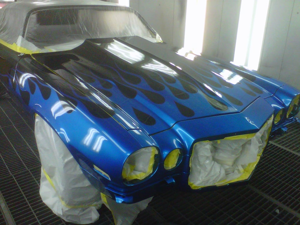 Speciality Blue Flame Paint Job On This Camero It Caused Lots Of