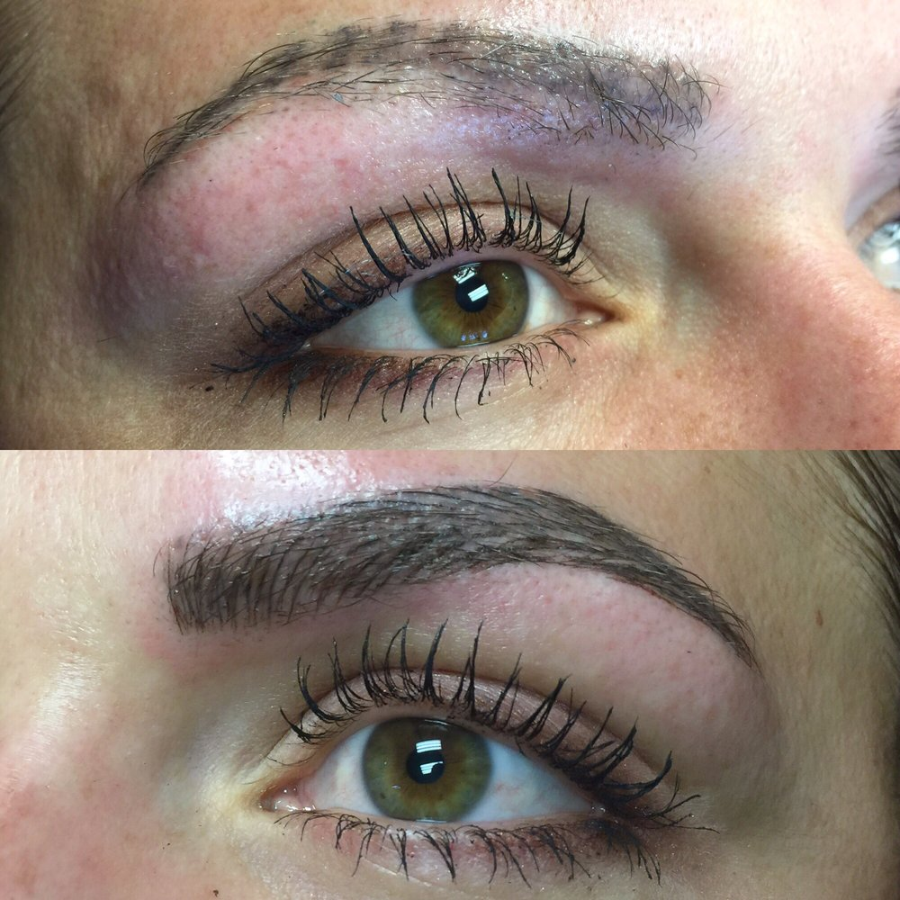 before and after microblading previous quotpowderquot eyebrow