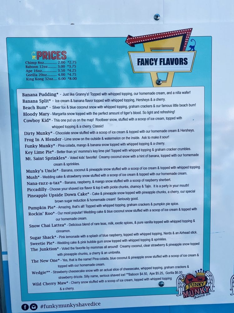 Funky Munky Shaved Ice: 2420 E US Hwy 377, Granbury, TX