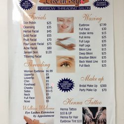 live in style threading salon closed waxing 534 merrick rd