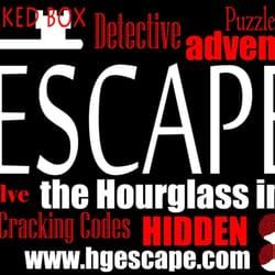 Hourglass escape room