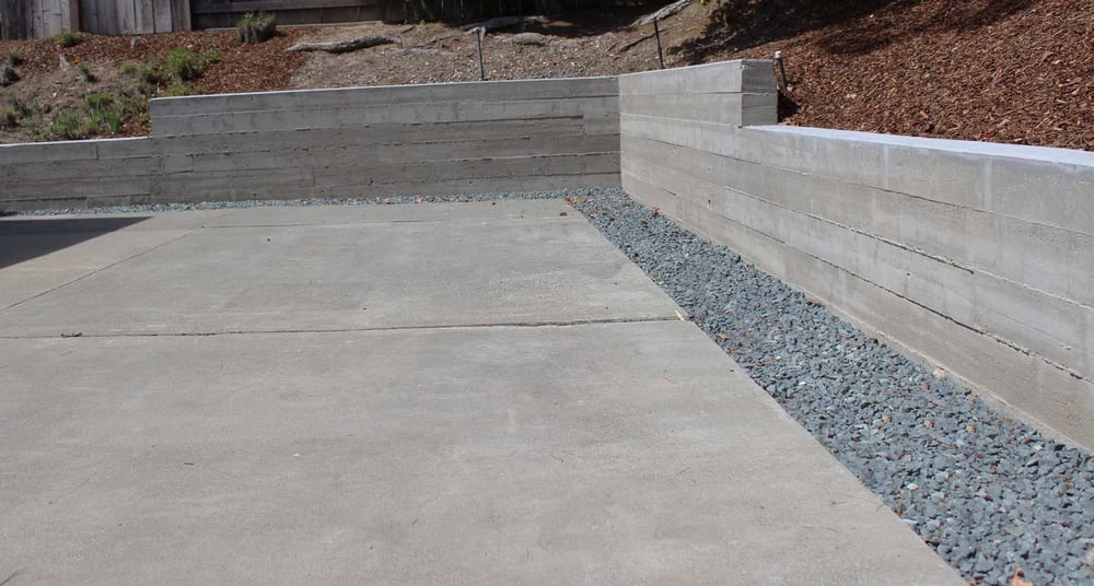 Retaining Wall Forms : Board formed concrete retaining wall yelp