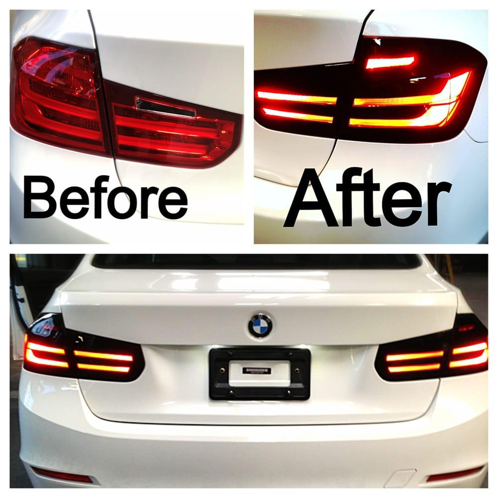 Custom Cut Vinyl Wrap On A I BMW Tail LIghts Yelp - Vinyl custom