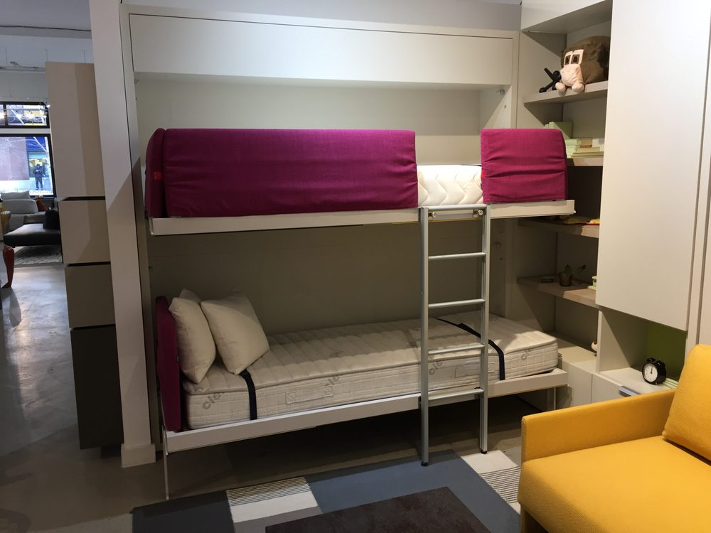 Kali Duo Wall Bed Bunk Bed System Available With Integrated Sofa