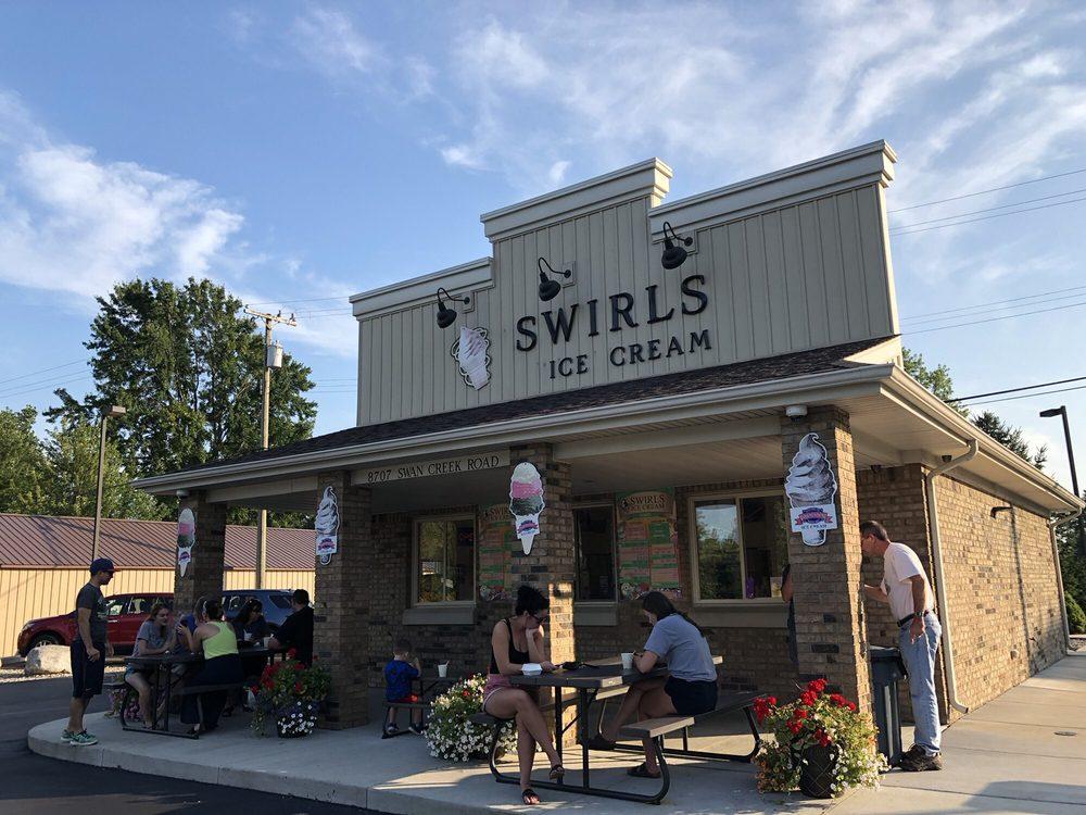 Swirls Ice Cream: 8707 Swan Creek Rd, Newport, MI