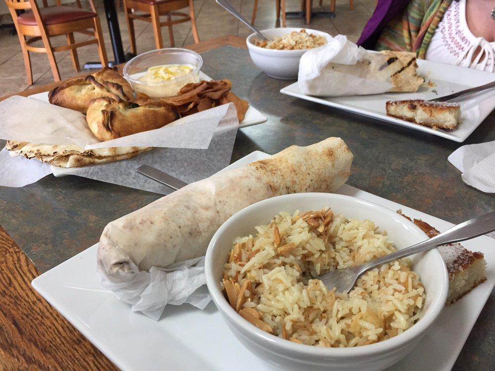 Food from Lazeez Fresh Mediterranean Grill