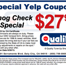 Tune Up Cost >> Quality Tune Up Shops Closed Smog Check Stations 501