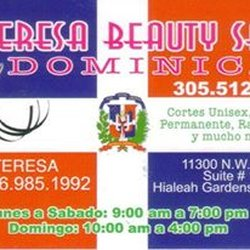 Teresa dominican beauty salon hair salons 11300 nw 87th ct photo of teresa dominican beauty salon hialeah fl united states business card reheart Gallery