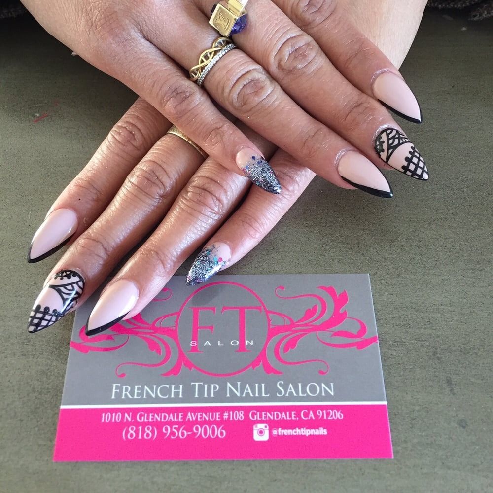 Stiletto Nail Salons Los Angeles: Stiletto Full Set With Nail Design