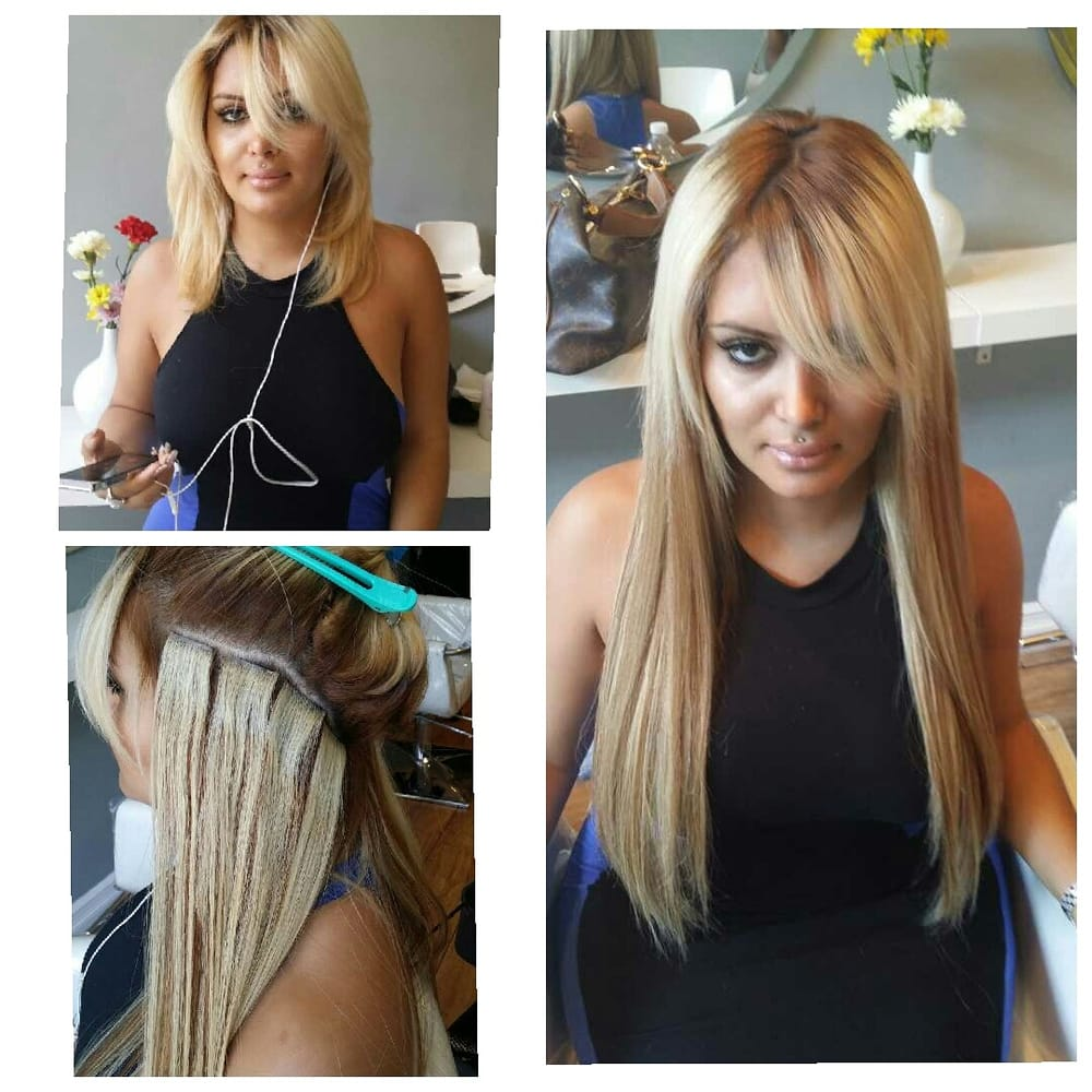 Tape hair extensions are flat and last for up to 1 year with photo of ytf hair extensions manhattan ny united states tape hair extensions pmusecretfo Image collections