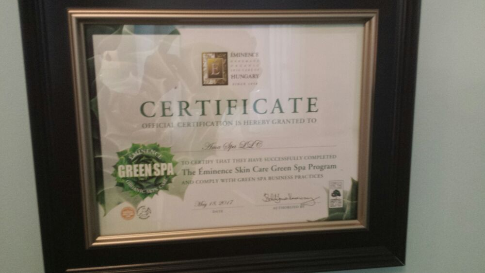 Green Spa Certified! - Yelp