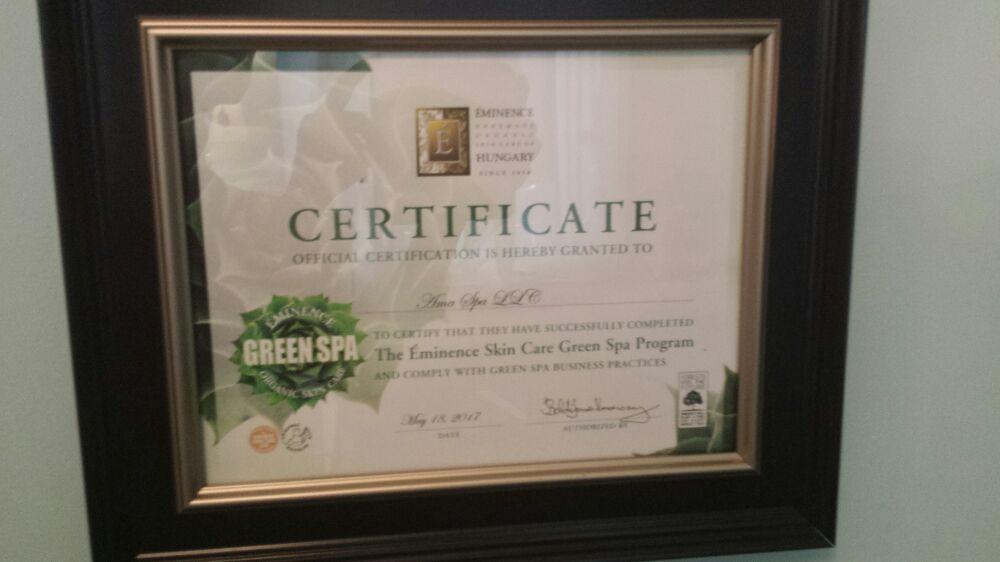 Green Spa Certified Yelp