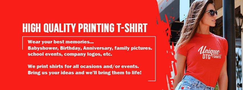Unique DTG T-Shirt Printing