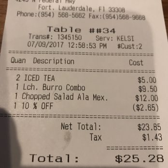 Photo Of La Bamba Iii Mexican And Spanish Restaurant Fort Lauderdale Fl United