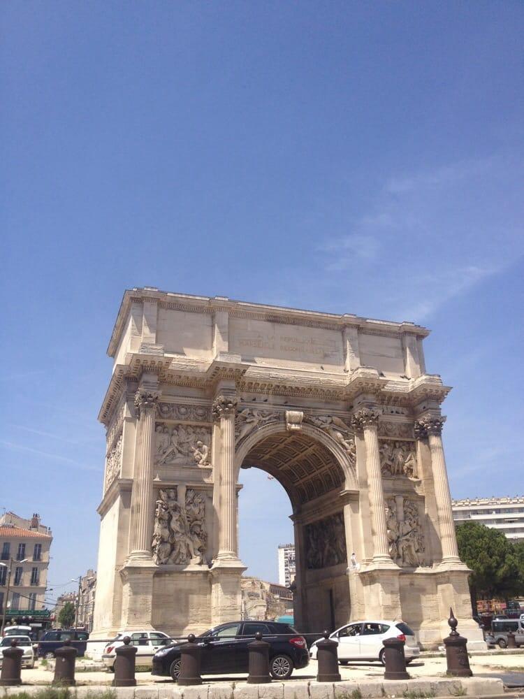 Arc de triomphe porte d aix landmarks historic for Porte 4 marseille
