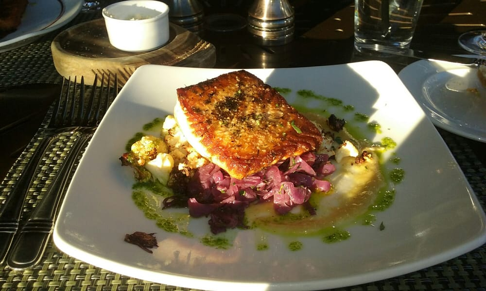 Cast Iron Seared Scottish Salmon w/ braised red cabbage ...