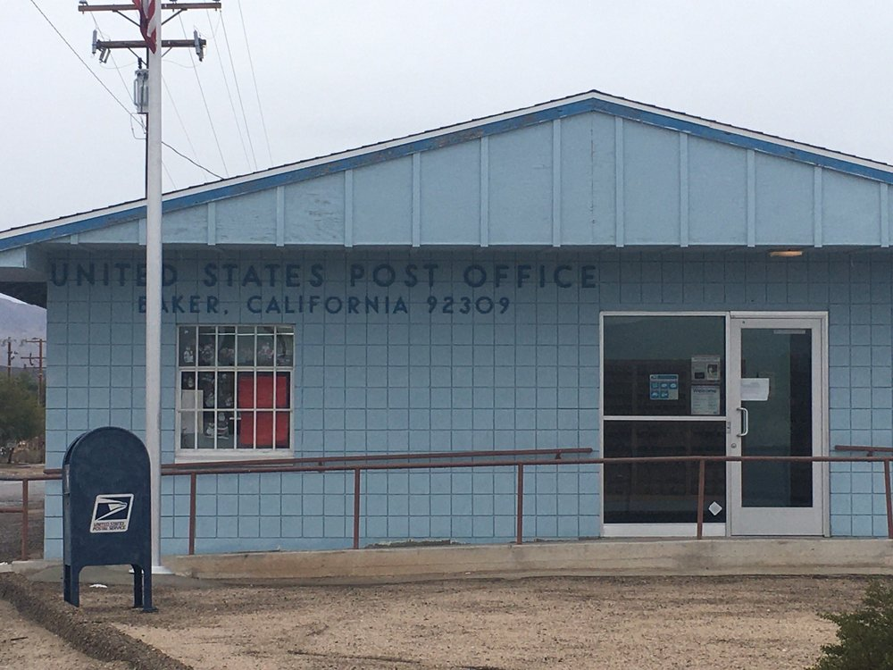 US post office: 1 Lakeview Rd, Baker, CA