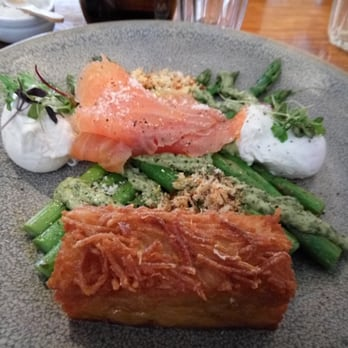... , Australia. Smoked salmon, asparagus, poached eggs, brioche crumbs