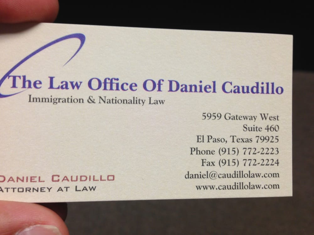 The Law Office Of Daniel Caudillo - Immigration Law - 5959 Gateway W ...