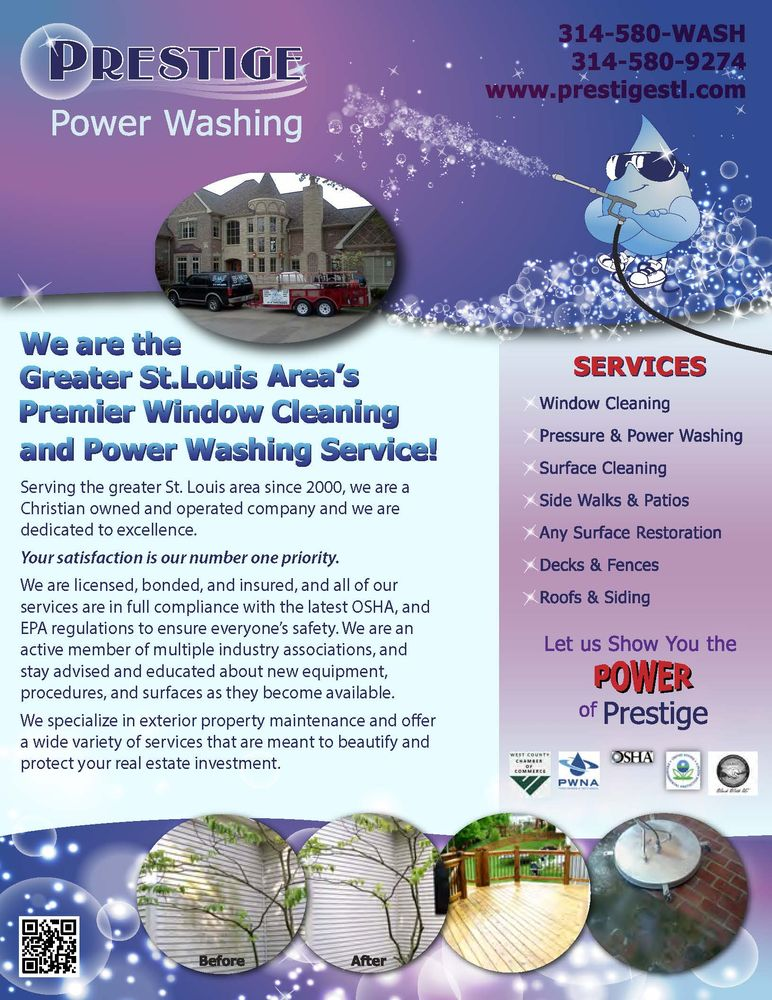 Prestige Power Washing: 1184 Big Bend Rd, Ballwin, MO