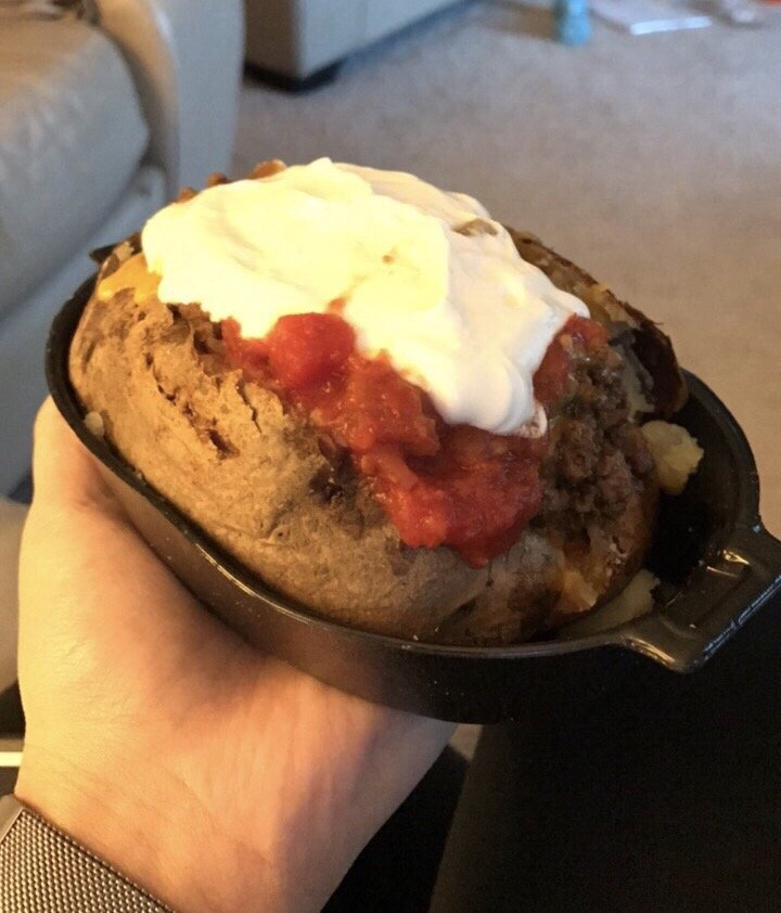 Loaded Beef Taco Potato Yelp