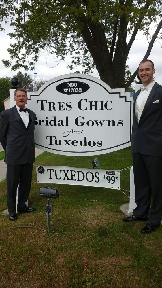 Tres Chic Bridal and Tuxedoes: N90 W17032 Appleton Ave, Menomonee Falls, WI