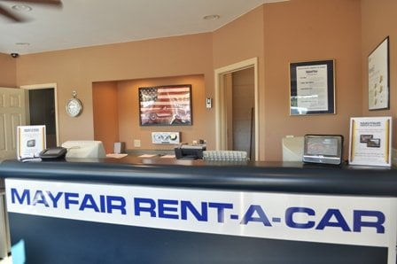 Home › Travel › Car Rentals › May Fair Rent A Car About May Fair Rent A Car Everyone on the Mayfair Rent-A-Car team is ready to take care of your needs quickly, whether you call or visit one of our convenient locations in southeast Wisconsin or you make your reservation request online now.