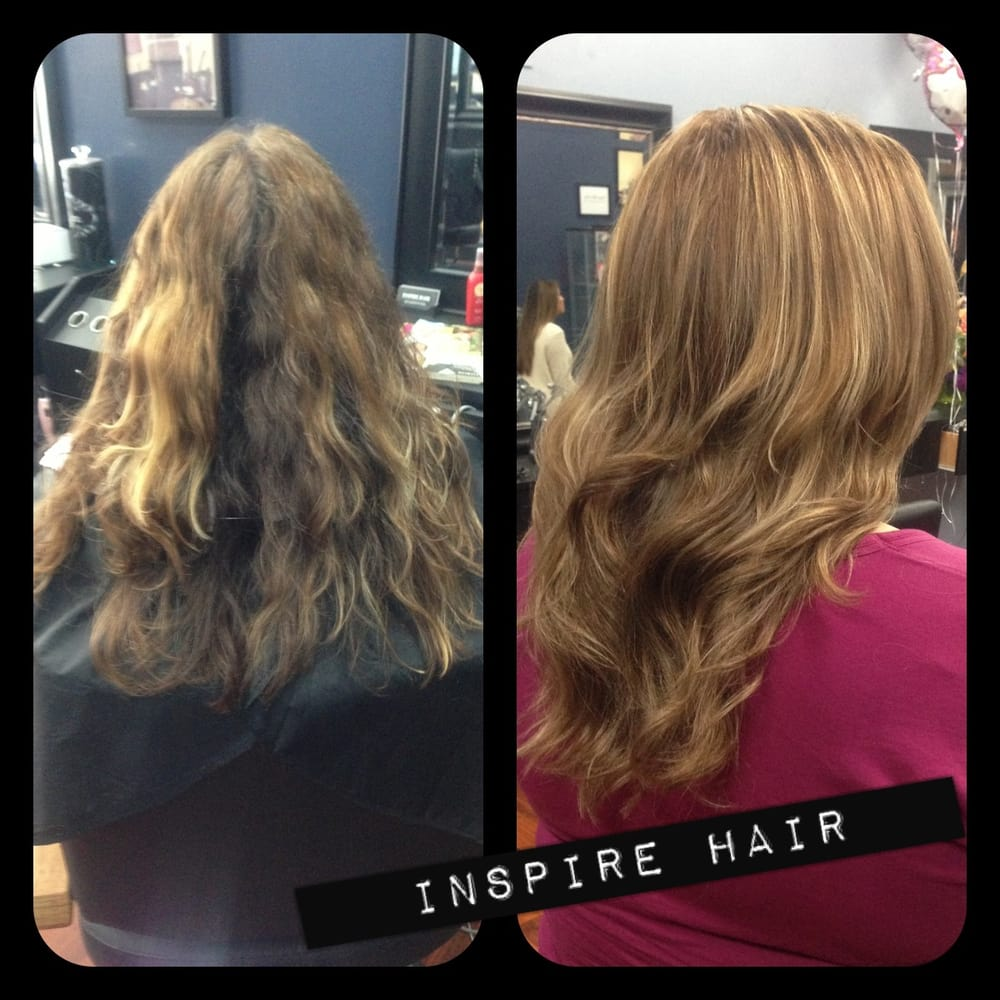 Before and after full head of highlightsbase color and haircut photo of inspire hair san lorenzo ca united states before and after pmusecretfo Image collections