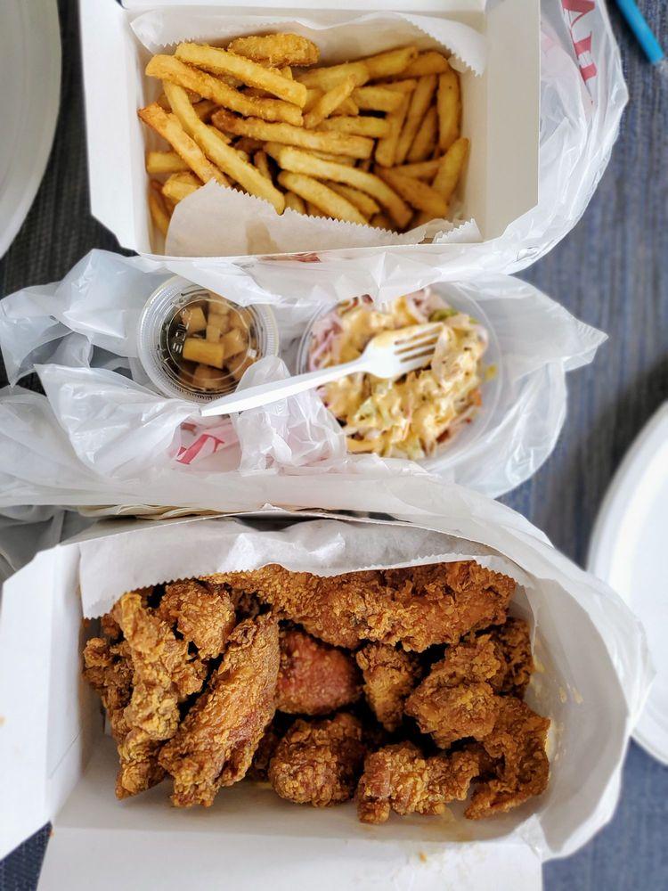 Food from Mr.Chicken & Mrs.Tea
