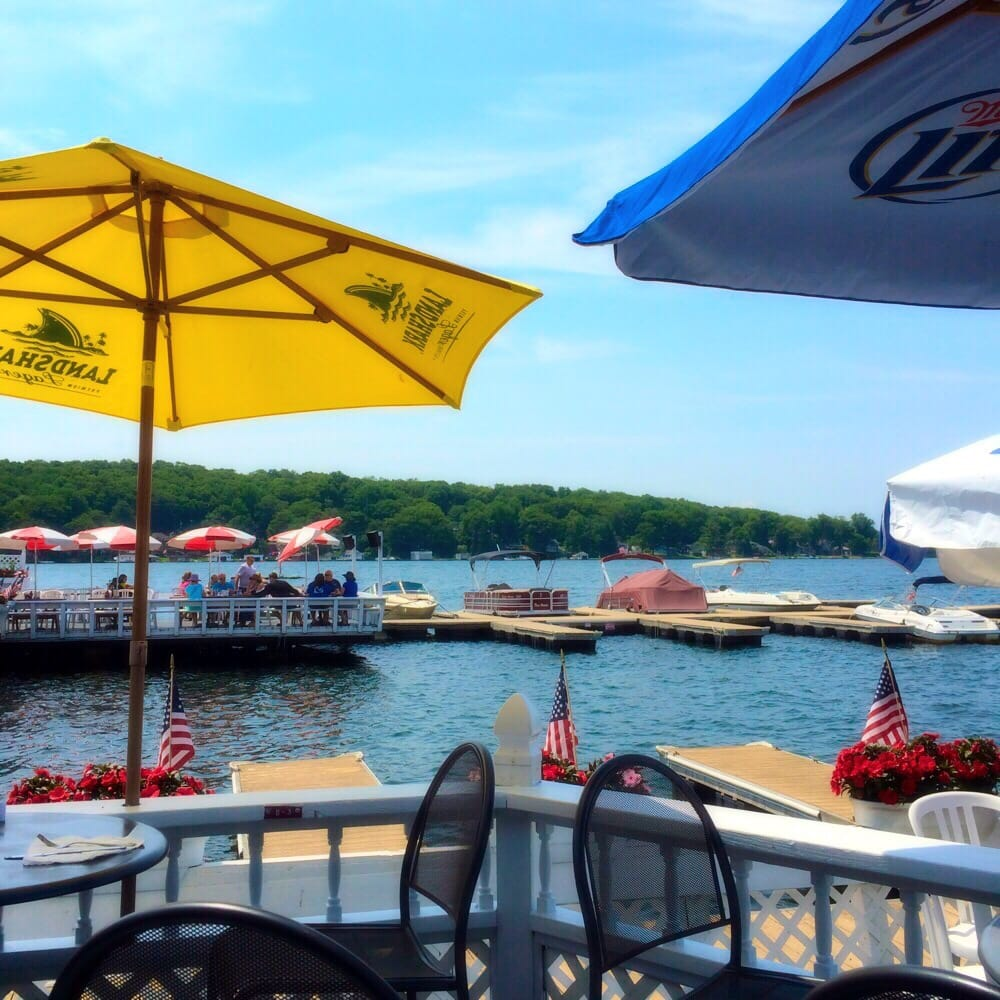 View Of Lake Hopatcong From The Tiki Bar Yelp