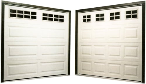 Examples Of Single Garage Doors Shown Left Long Panel With