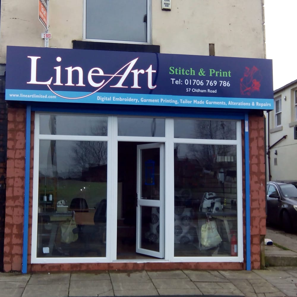 Line Art Rochdale : Line art sömmerskor skräddare oldham road