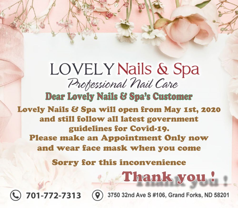 Lovely Nails & Spa: 3750 32nd Ave S, Grand Forks, ND