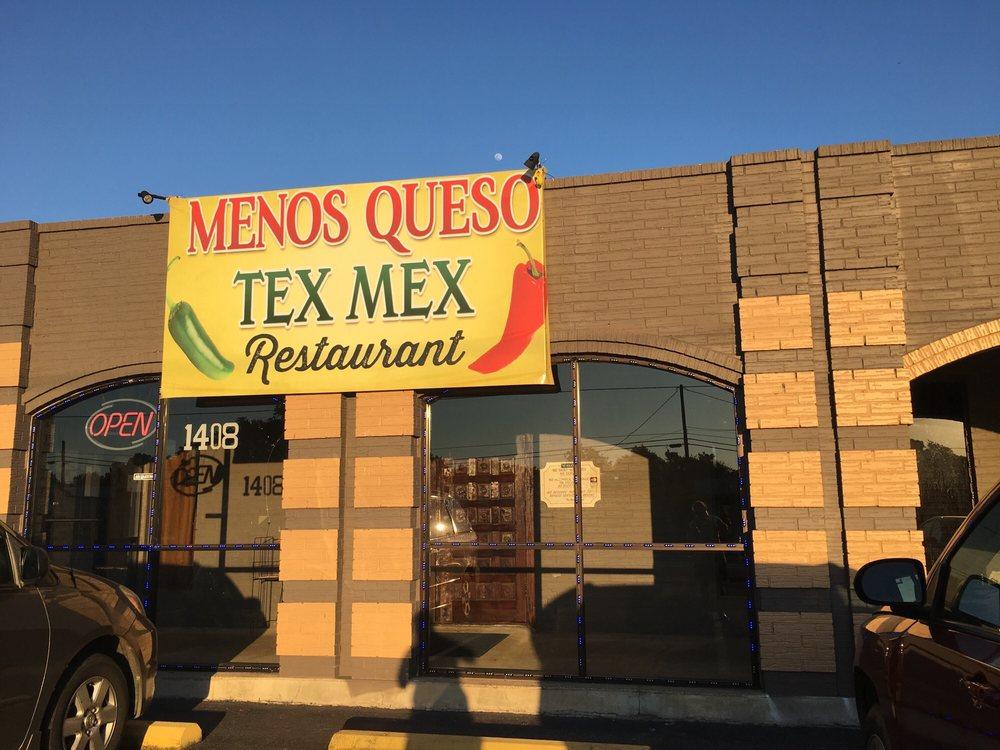 Menos Queso Tex Mex Restaurant: 1408 E Tyler St, Athens, TX