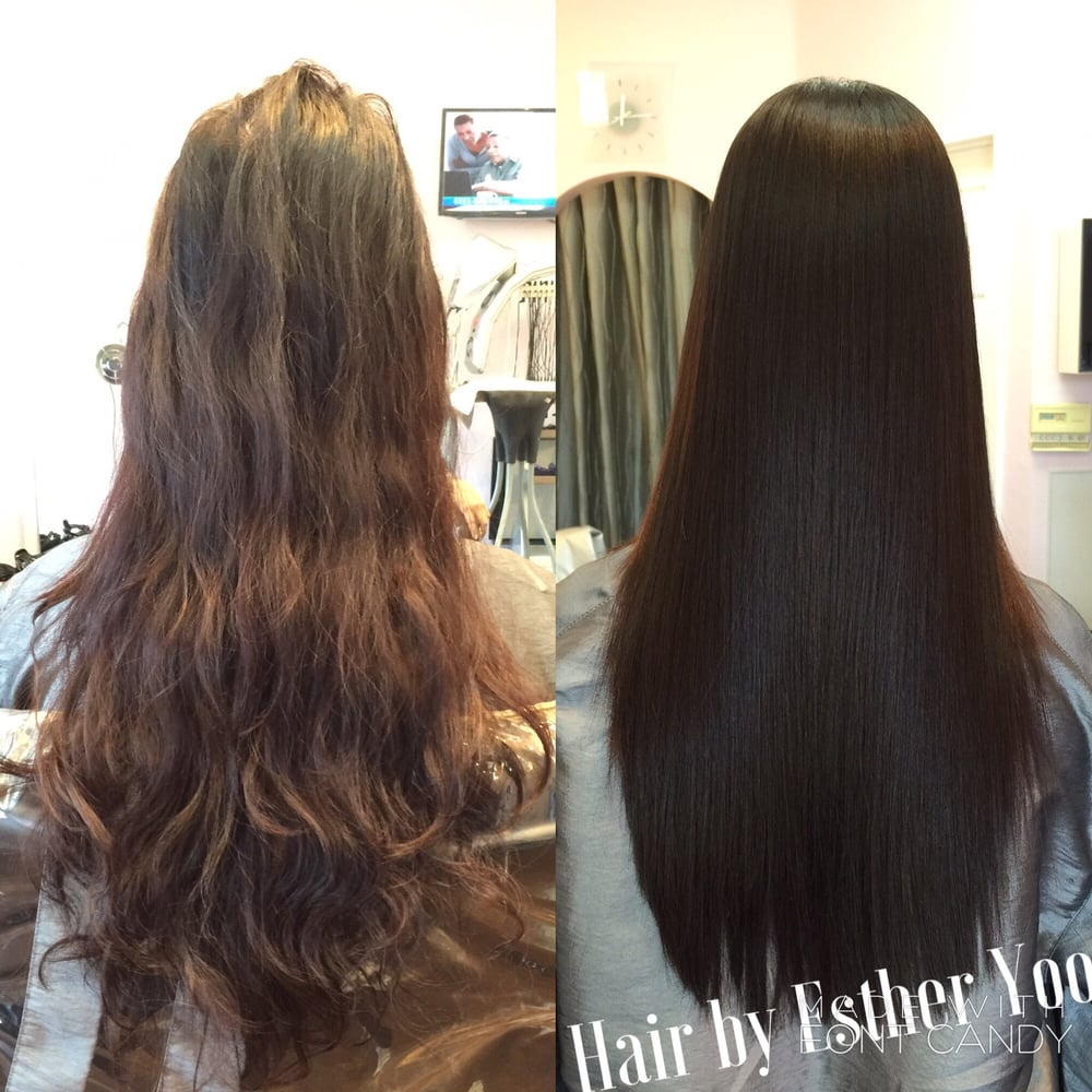 Japanese Perm Straight Hair Before After Japanese Straight