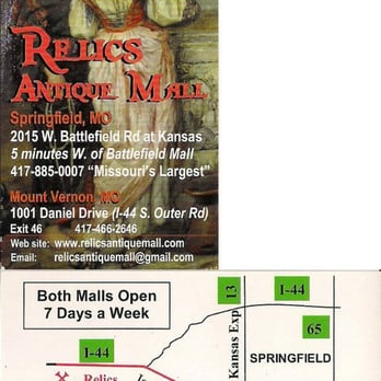 Relics antique mall 54 photos 17 reviews antiques for Business cards springfield mo