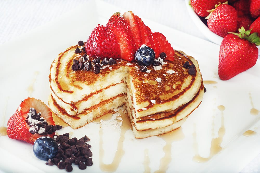 Hansel And Griddle >> Try a stack of Buttermilk Pancakes, and add chocolate chips, blueberries, strawberries, or ...