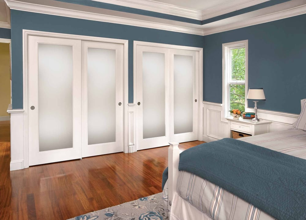 Superieur Wood Frame Mirrored Closet Doors   Yelp