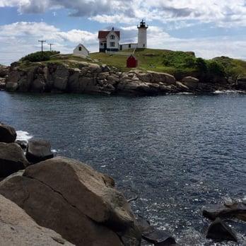 Photo Of Nubble Lighthouse York Beach Me United States On Island