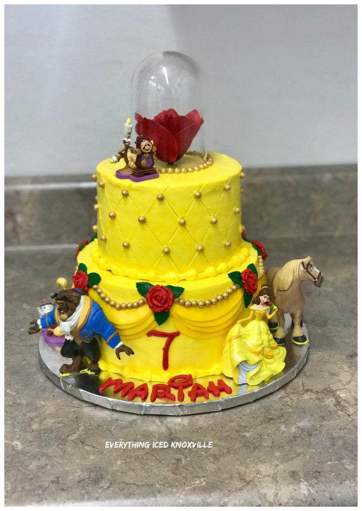 Custom Beauty and the Beast cake - Yelp