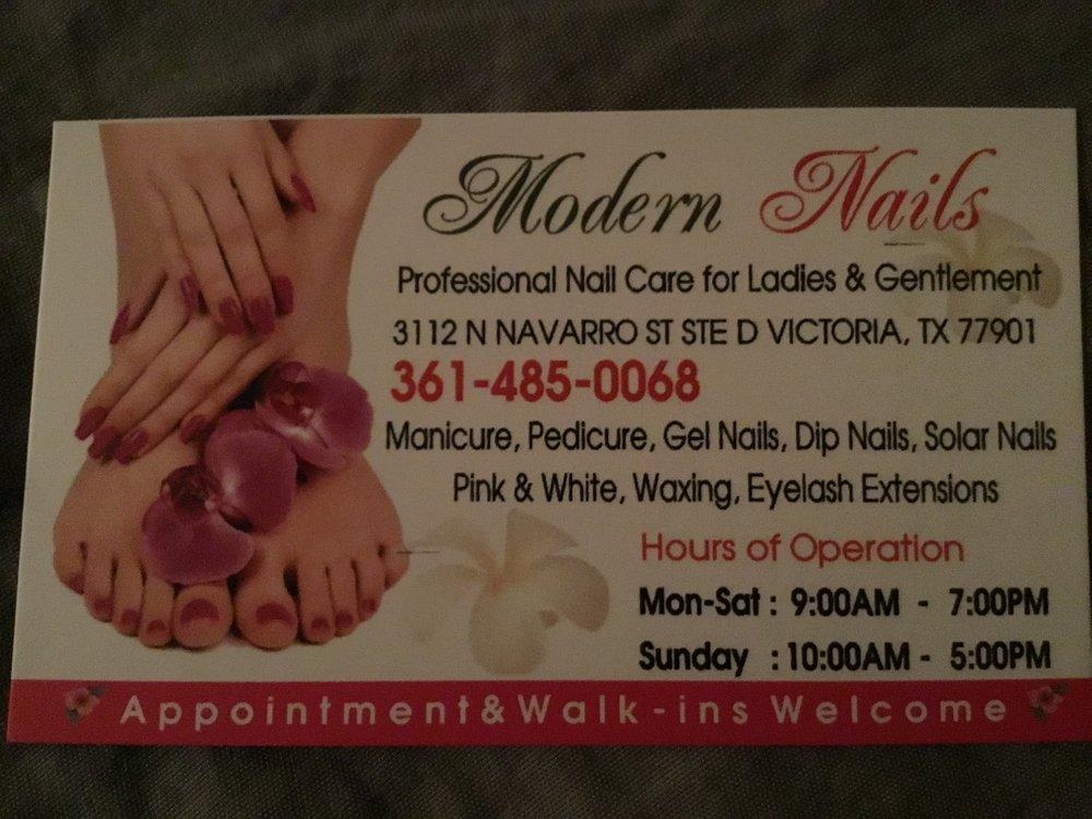 Modern nails: 3112 N Navarro St, Victoria, TX