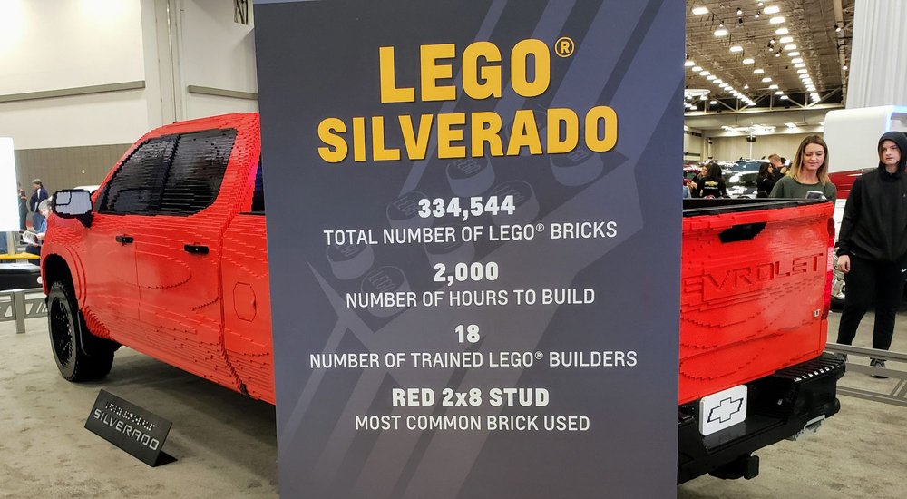 Lego truck at the 2019 Dallas Auto Show - Yelp