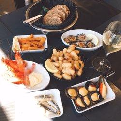 les poissonneries de la c 244 te catalane fischmarkt anse gerbal la cri 233 e port vendres