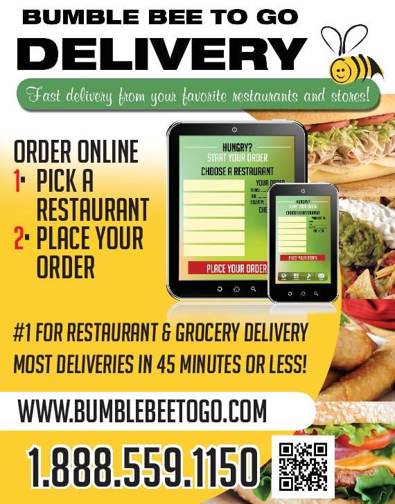 Bumble bee to go food delivery mcdonough ga united for Order food to go